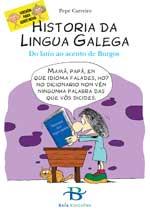 Portada de Historia da Lingua Galega. Autor   Pepe Carreiro