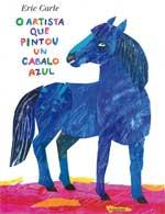 Portada de O artista que pintou un cabalo azul