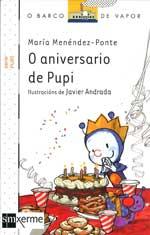Portada de O aniversario de Pupi. Autor   Javier Andrada Guerrero