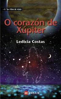 Portada de O corazón de Xúpiter. Autor   Ledicia Costas