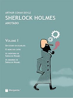 Portada de Sherlock Holmes Anotado Vol. I. Autor   Arthur Conan Doyle