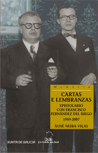 Portada de Cartas e lembranzas. Autor   Xosé Neira Vilas