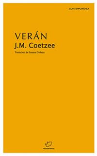 Portada de Verán. Autor   J.M.  Coetzee
