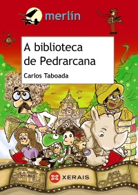 Portada de A biblioteca da Pedrarcana. Autor