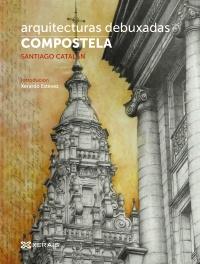 Portada de Arquitecturas debuxadas. Compostela